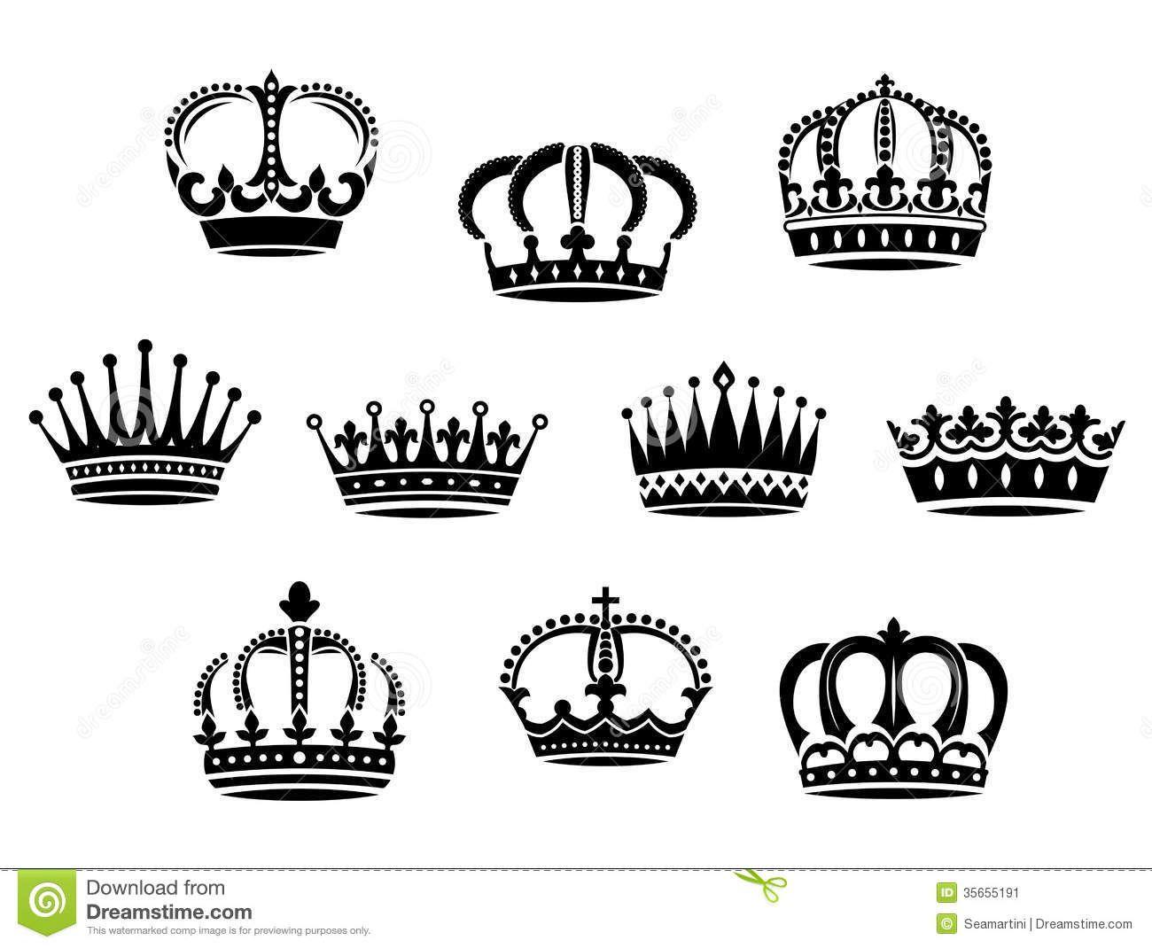 Medieval heraldic crowns.