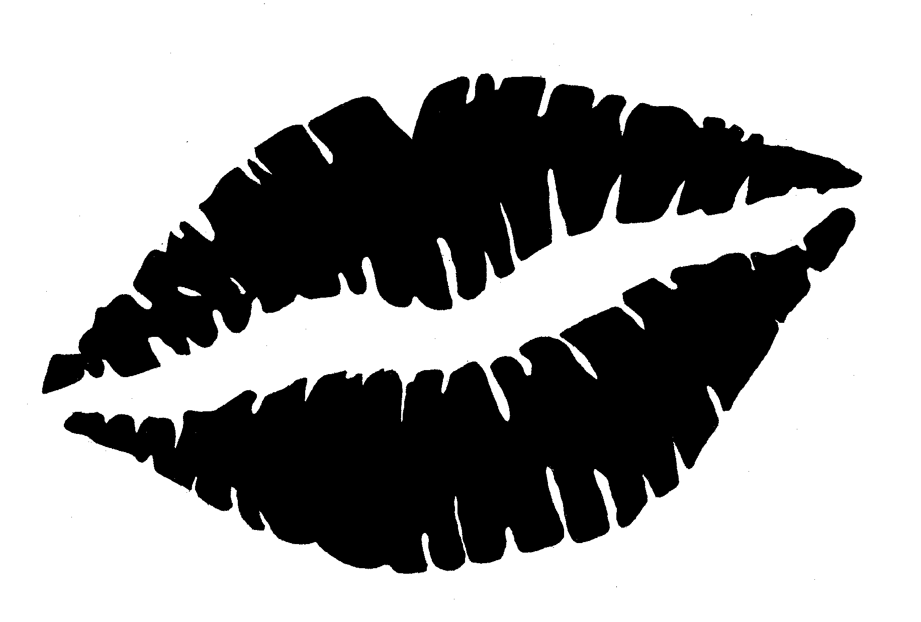 Lips clipart black and white Awesome Kiss clipart black and
