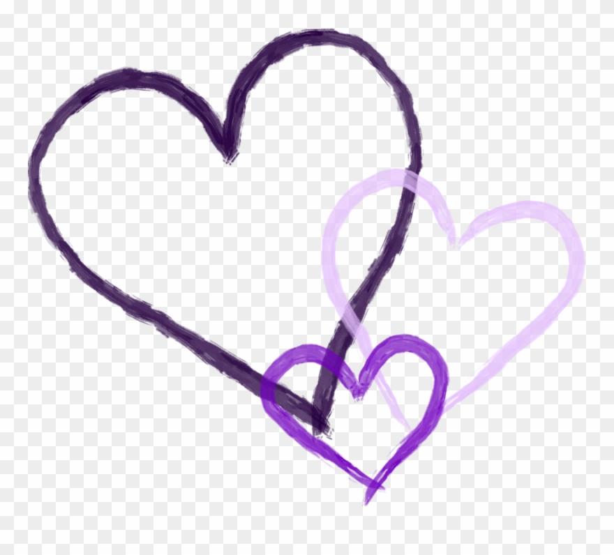 Kissing clipart purple.