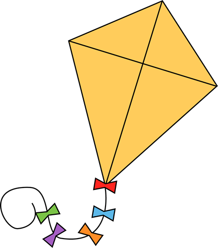 kite clipart simple