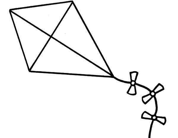 kite clipart drawing