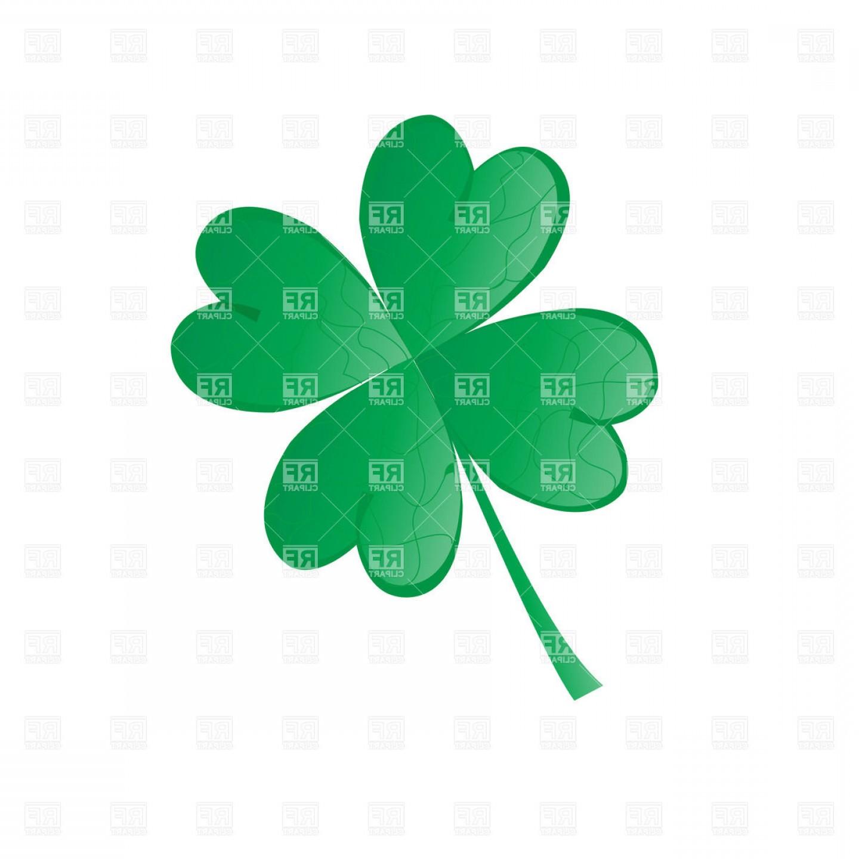 Four Leaf Shamrock St Patricks Day Symbol Vector Clipart
