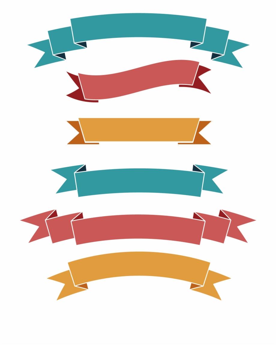 Web Flat Simple Label Banner Ribbon Clipart