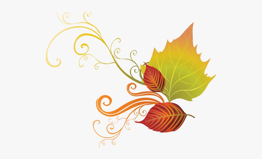 Autumn Leaves Clipart Corner Border