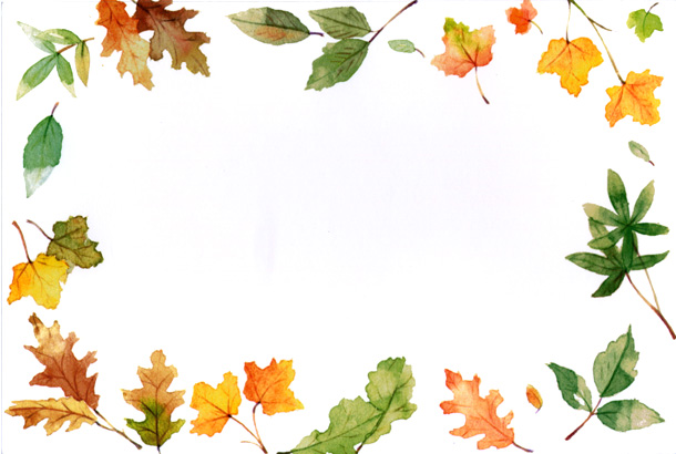 Fall border fall leaves clipart free images