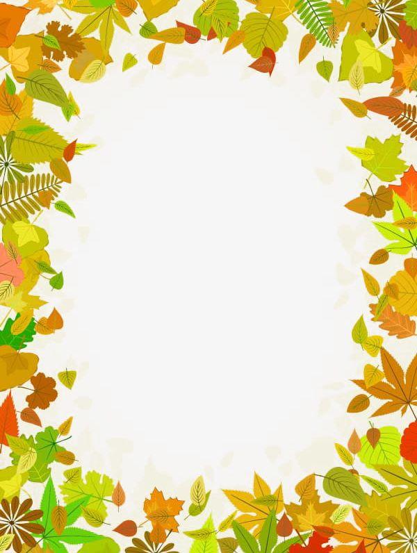Leaves frame png.