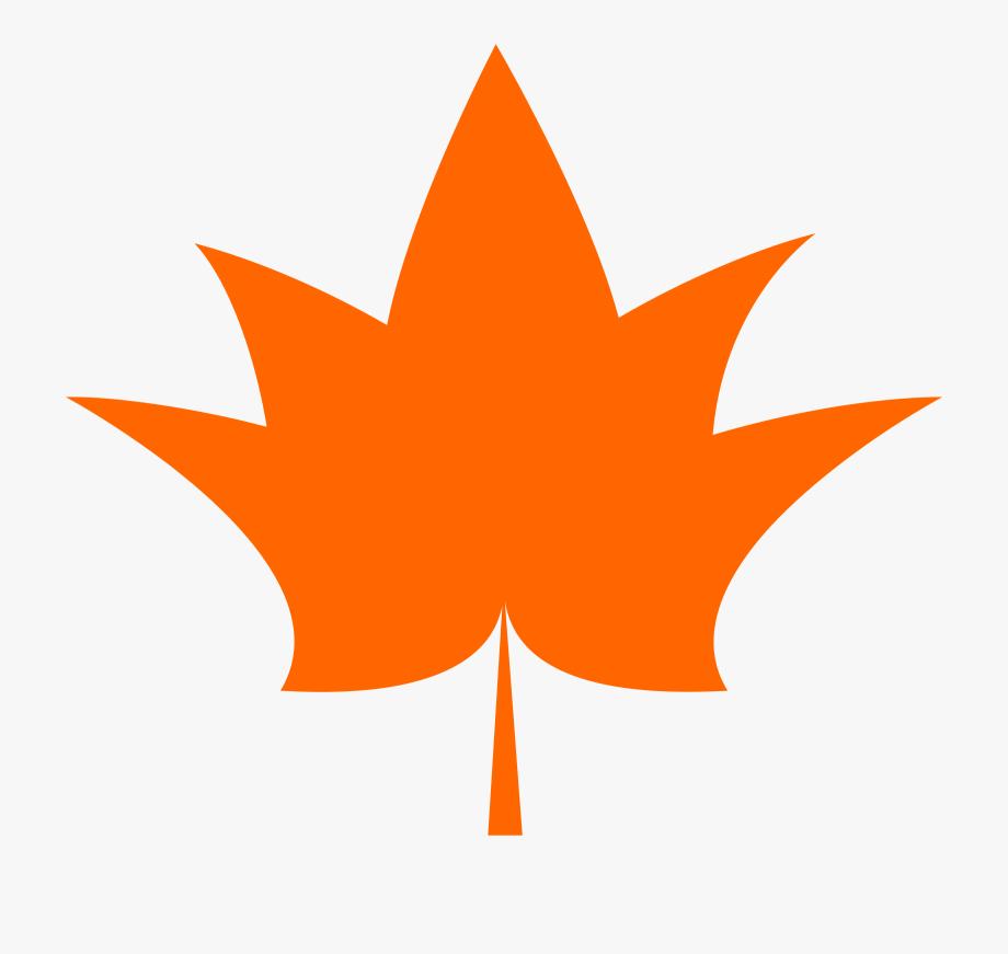 Maple Leaf Clipart Orange