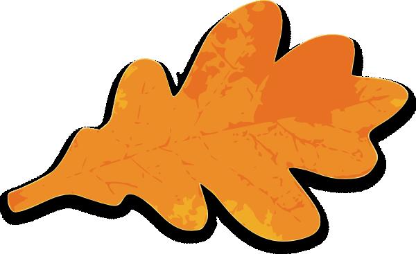 Leaves Clipart orange leaf