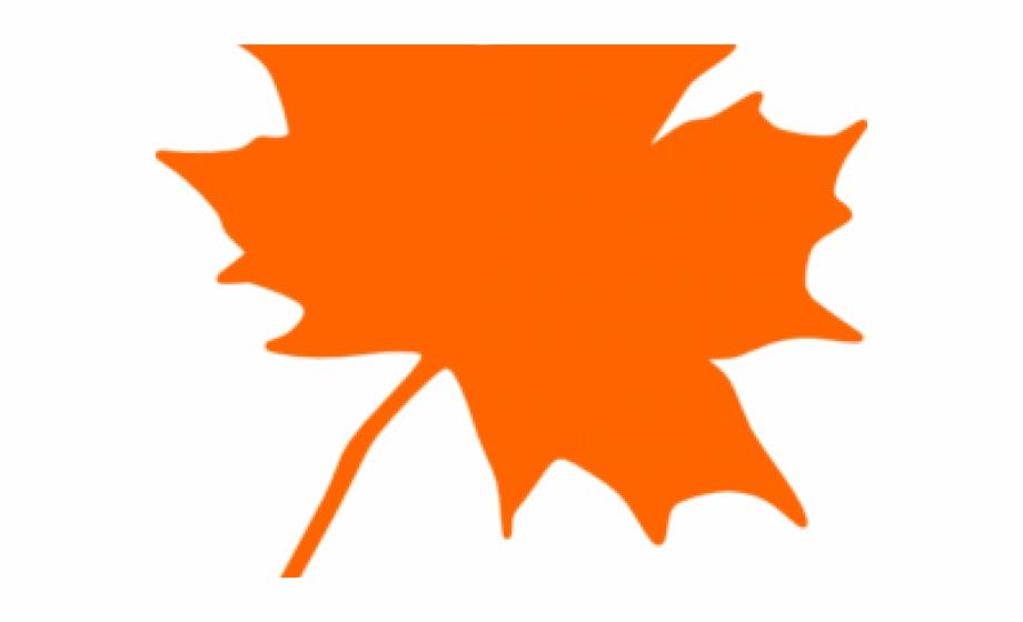 Leaves clipart orange.