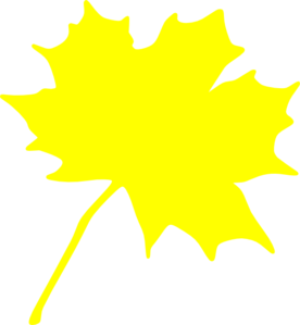 Yellow Leaf Clip Art at Clker