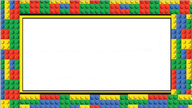 Lego clipart frame.