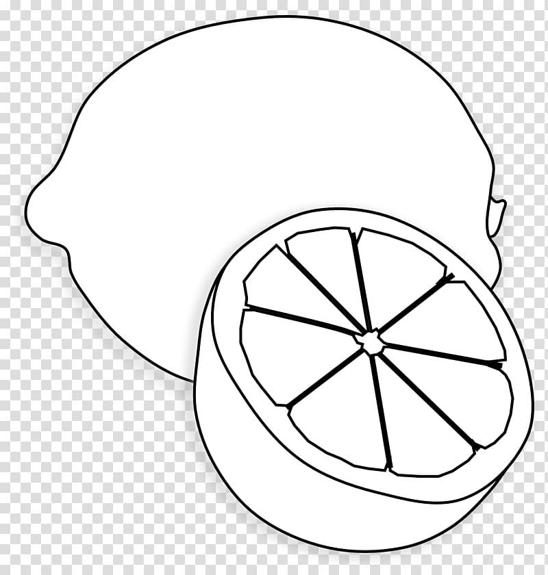 Sliced lemon drawing.