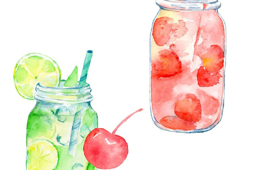 Watercolor mason jar.