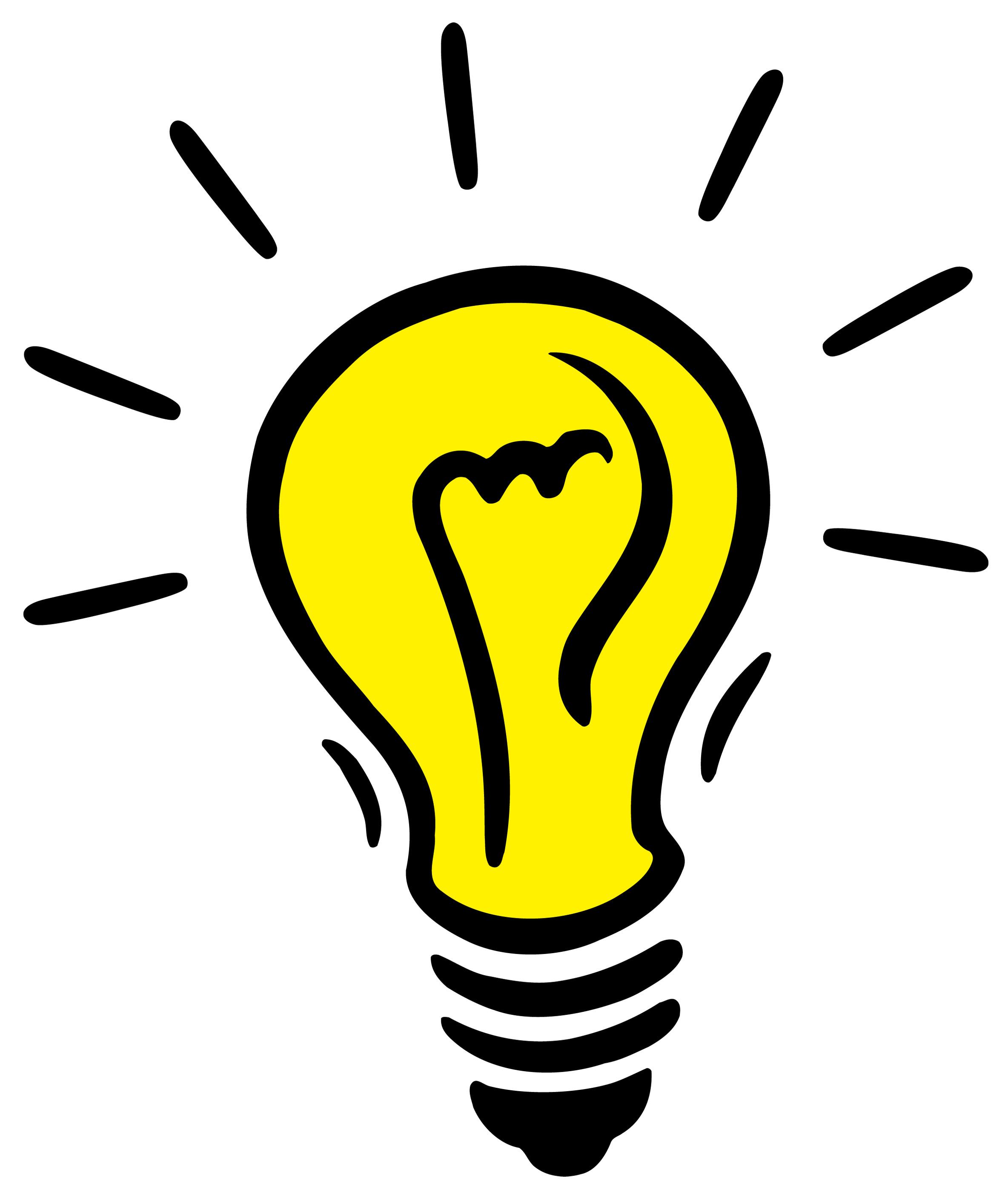 Lightbulb idea light.