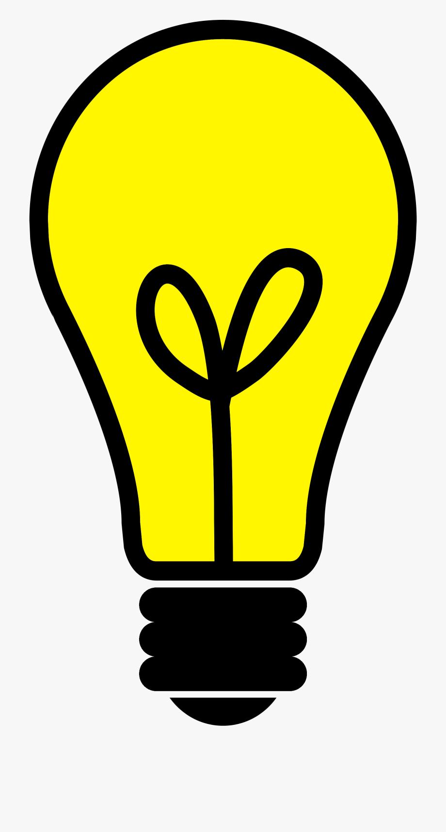 Lightbulb clipart yellow.