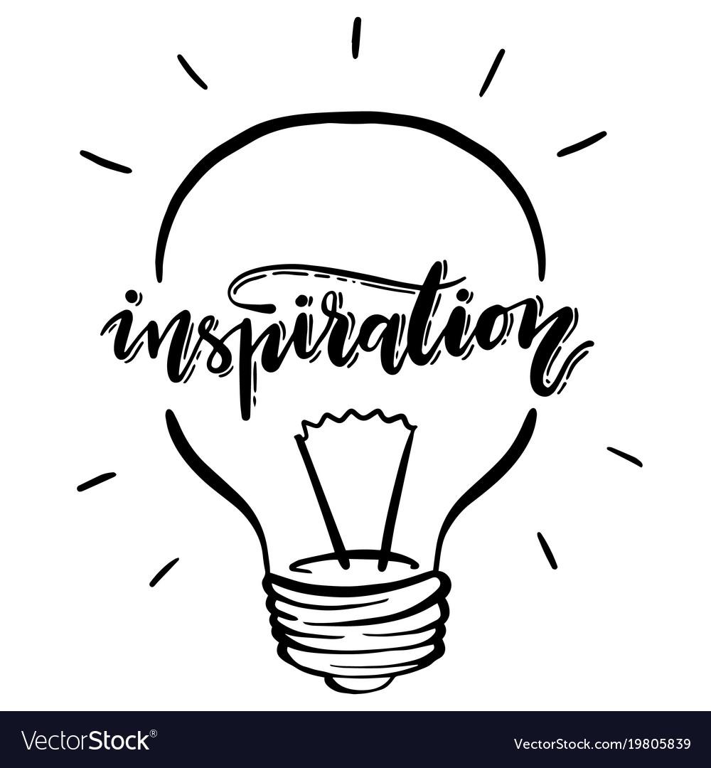 Isolated lightbulb inspiration.