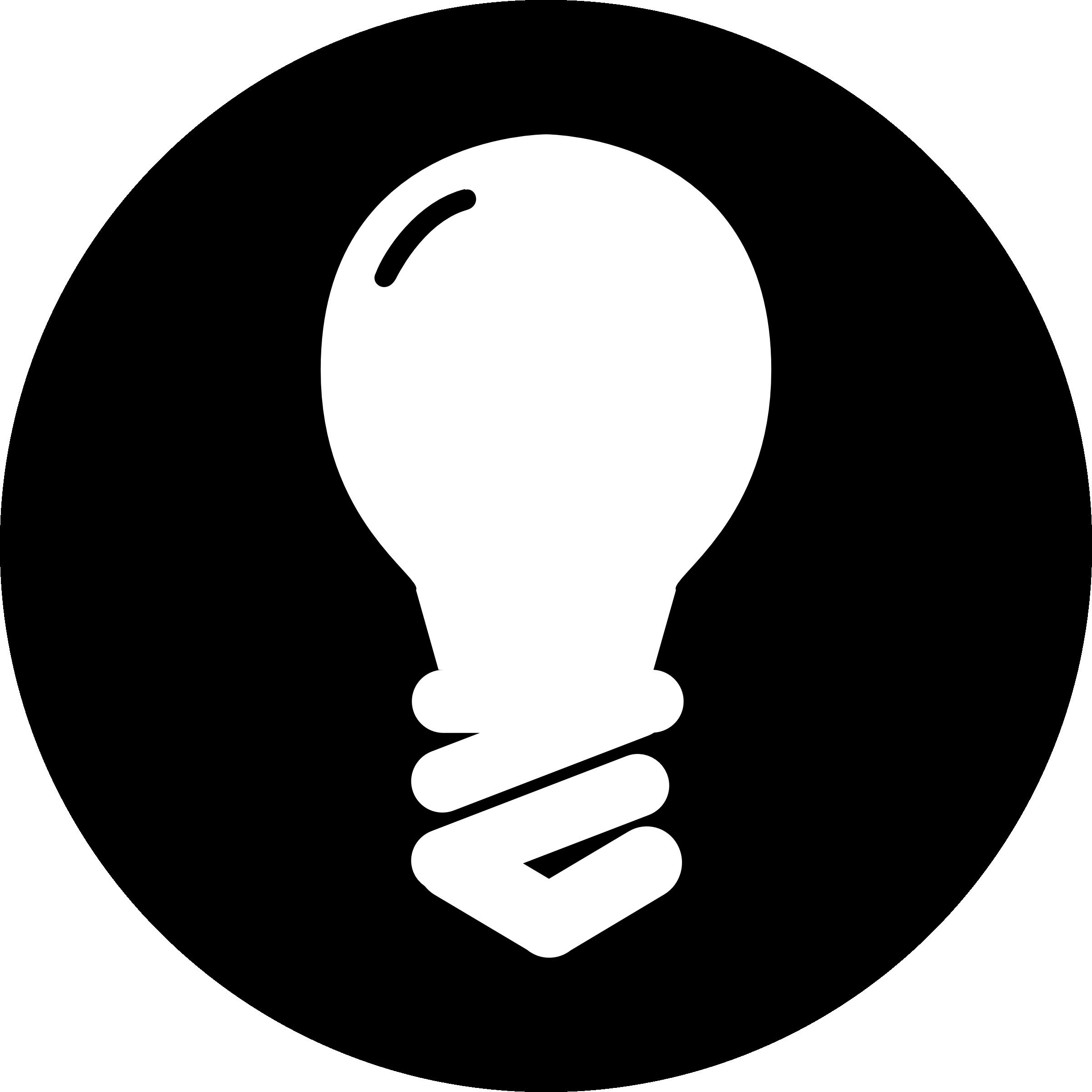 Idea light bulb.