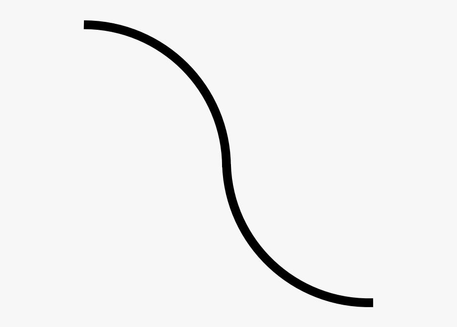 Curved black line.