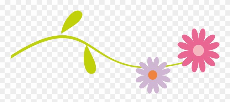 Floral divider clipart.