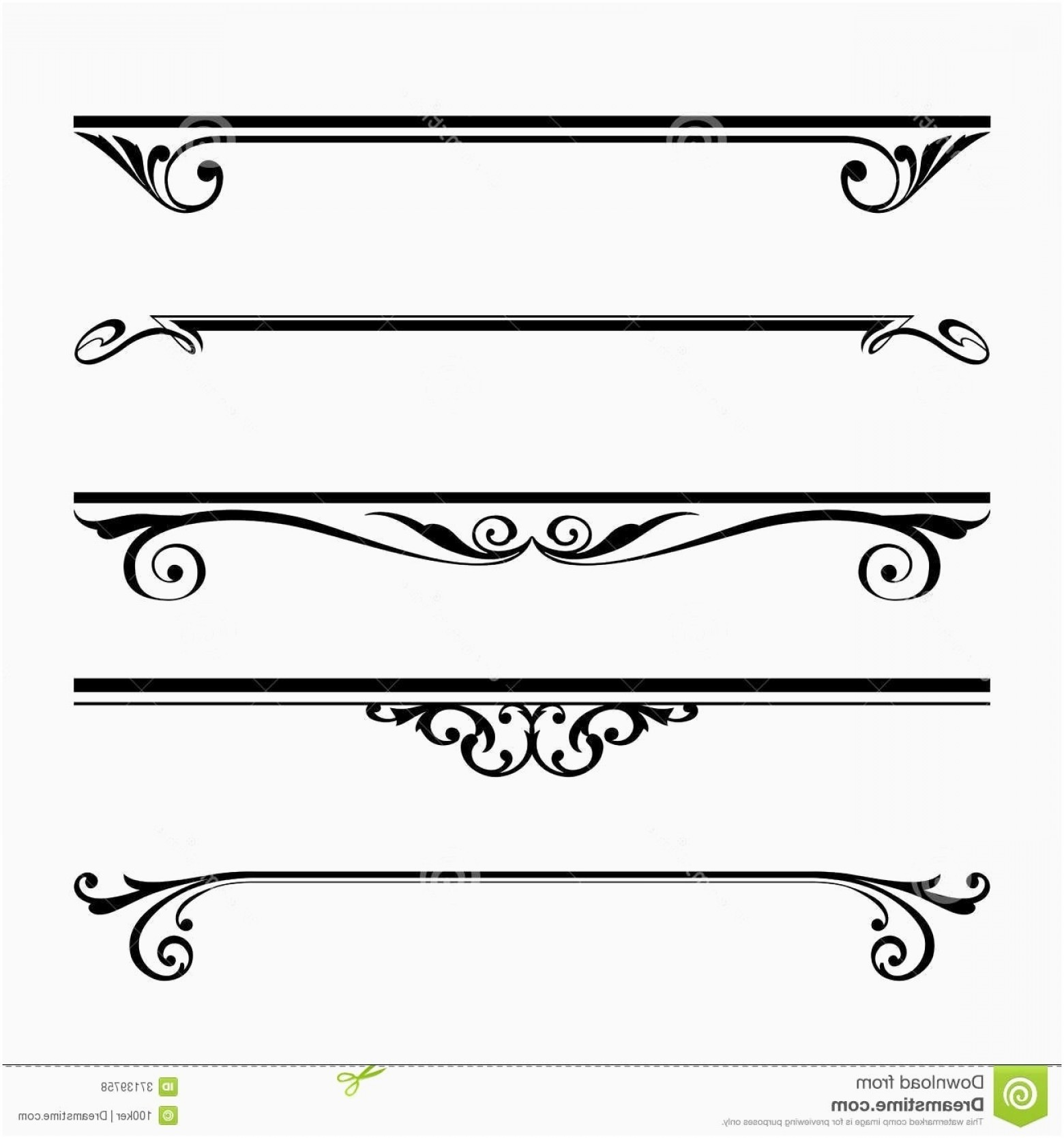 Clipart Lines And Borders New Decorative Lines Vector