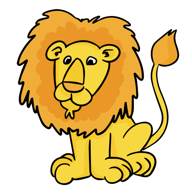 Cartoon male lion.