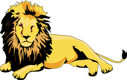 Lion clipart male. This clip art is