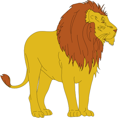 Lion clipart male. This free clip art