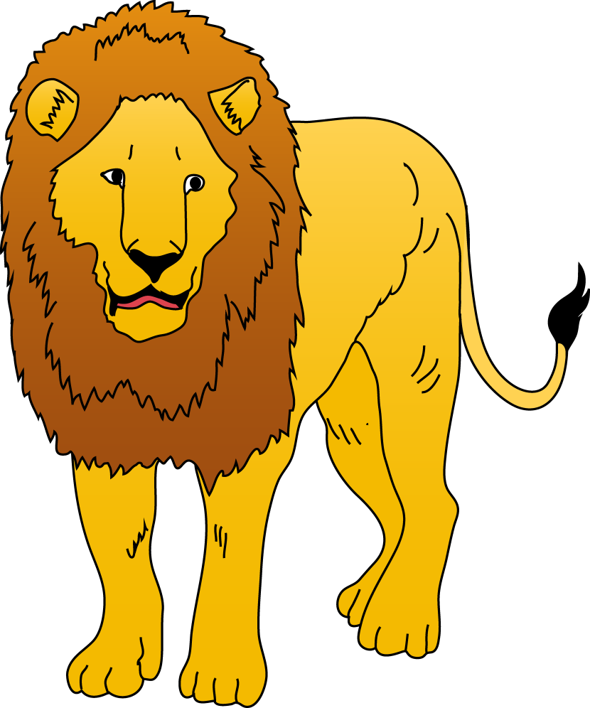 Lion clipart male. Transparent free for download