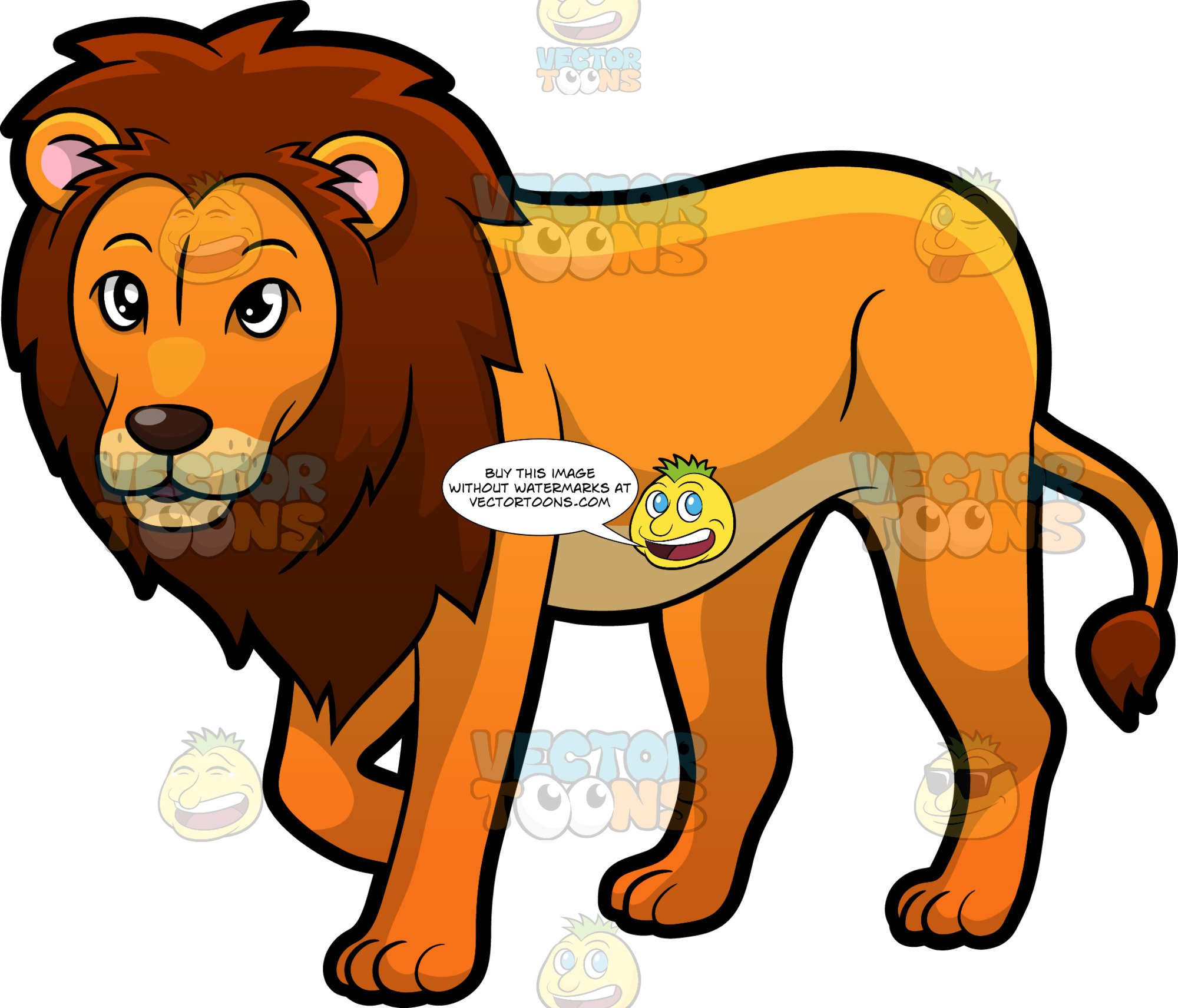 Lion clipart male. A proud looking