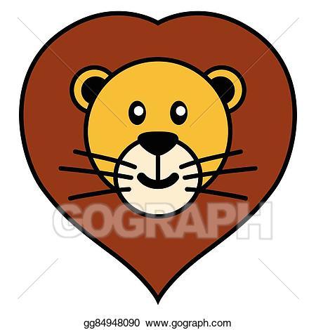 Vector art lion.