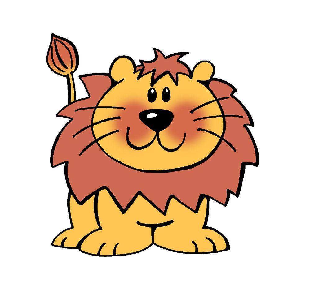 Lion Cartoon Stock Vector Clipart Vector Illustration Of