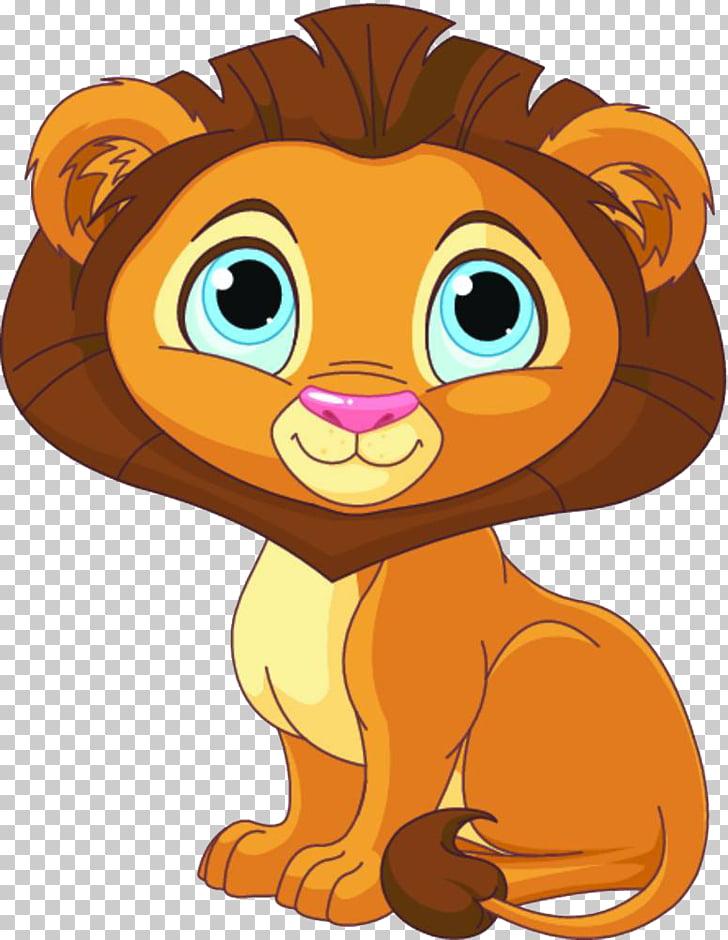 Lion cartoon cute.