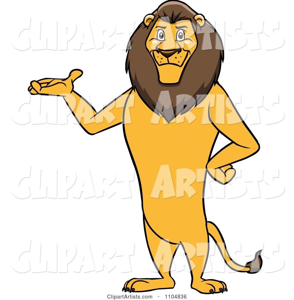 Happy male lion.