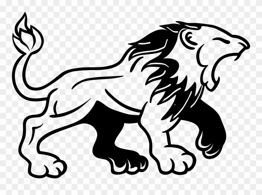 Lion tattoo clipart.