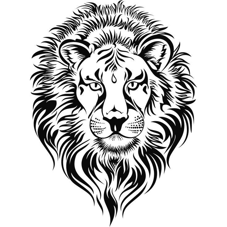 Lion head tattoo.