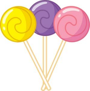 Cartoon lollipop clipart.