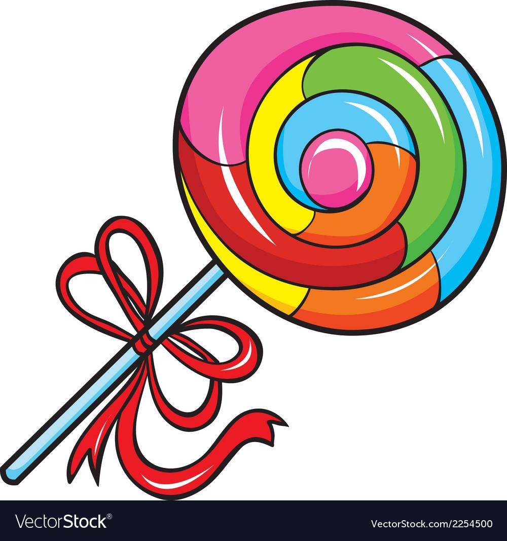 Colorful lollipop white.