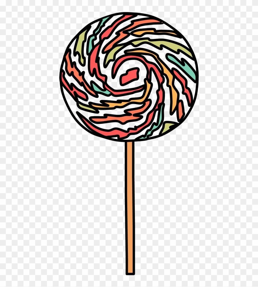 Lollipop clipart pastel.