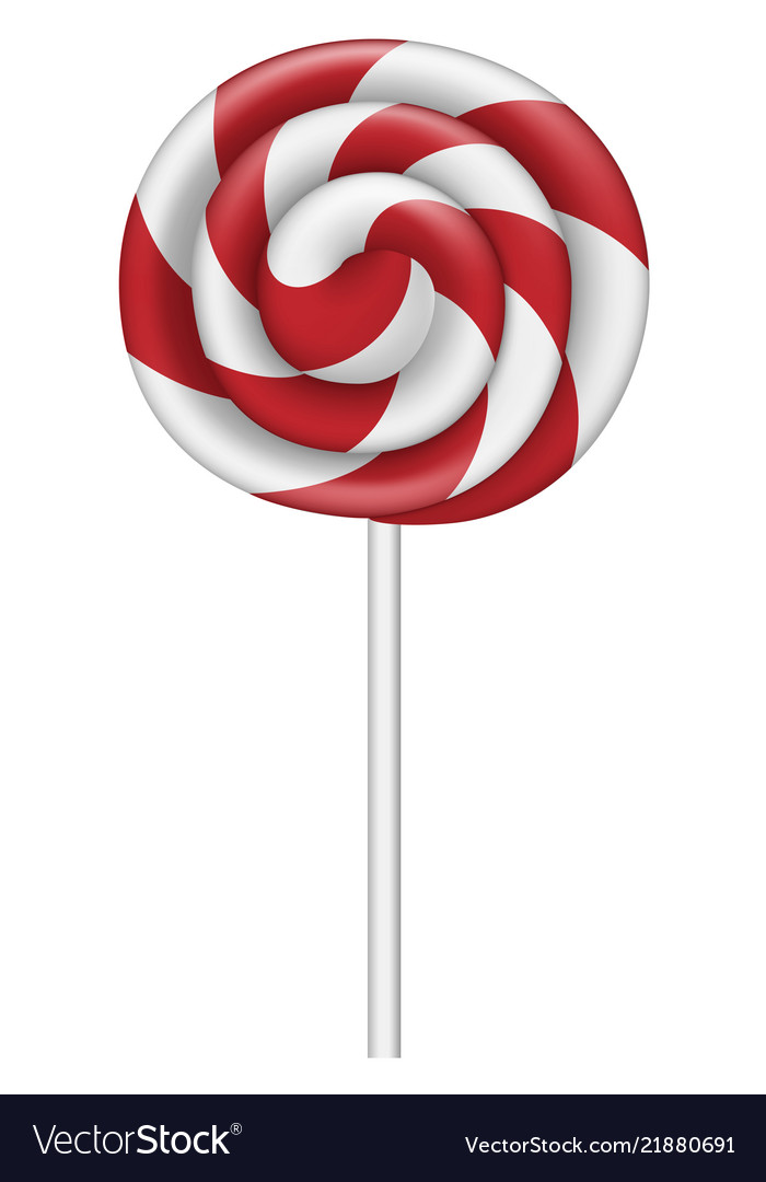 Red white lollipop.