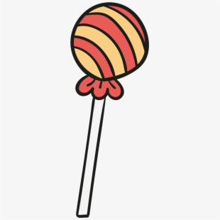Lollipop clipart drawing.