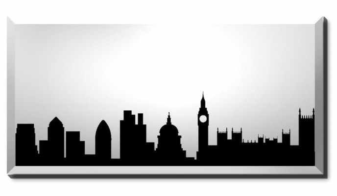 London silhouette skyline.