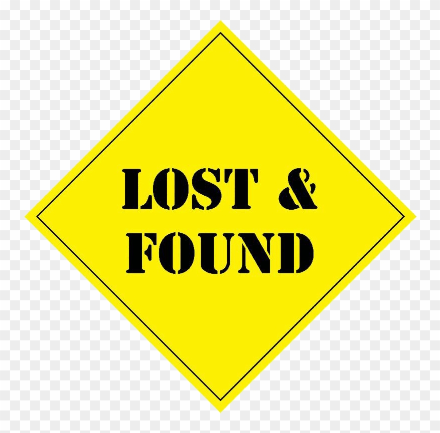 lost and found clipart sign