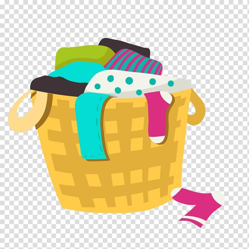 Clothes basket illustration.