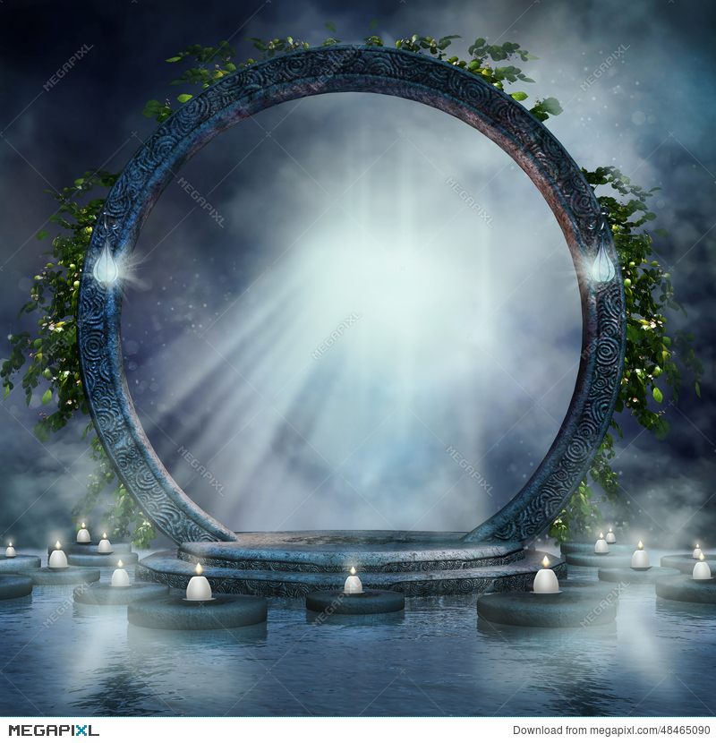 Fantasy magic portal.