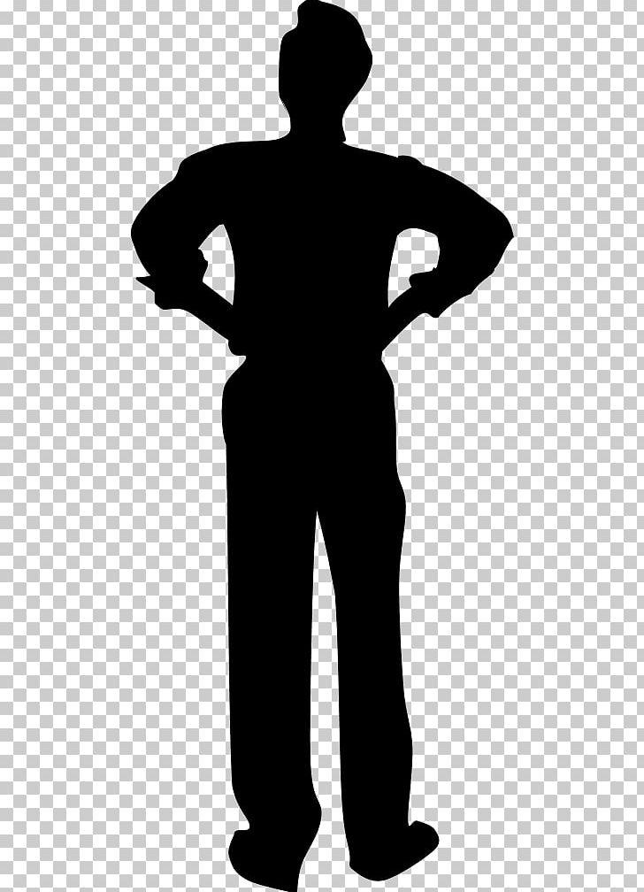 Silhouette black man.