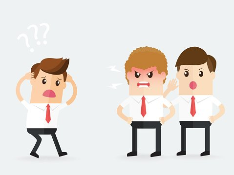 manager clipart angry