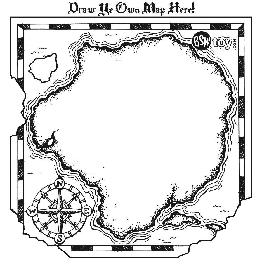Blank treasure map.