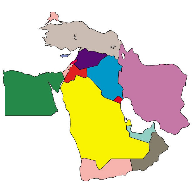 Middle east vector.