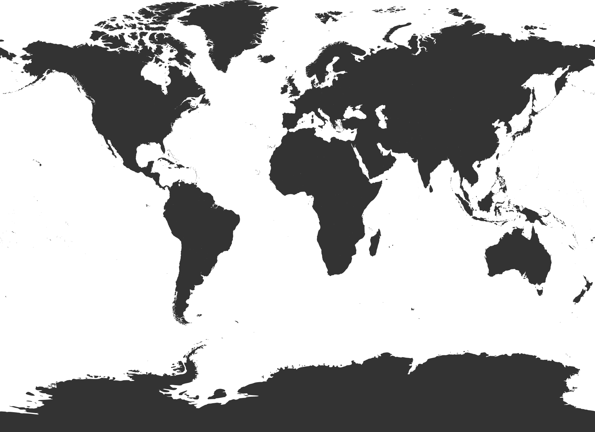Black And White Png Map