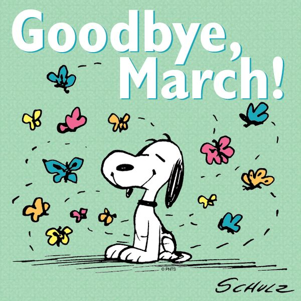 Snoopy clipart march.